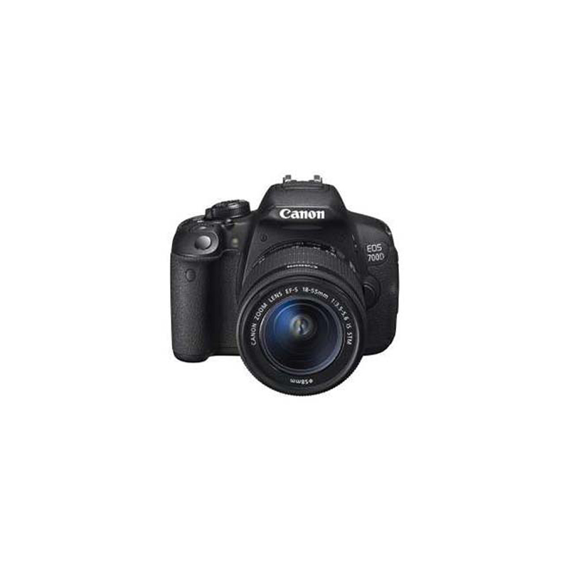 Canon EOS 700D DSLR, Canon EF mount, 18MP, ISO 100-6400 (equivalent to ISO 25600)