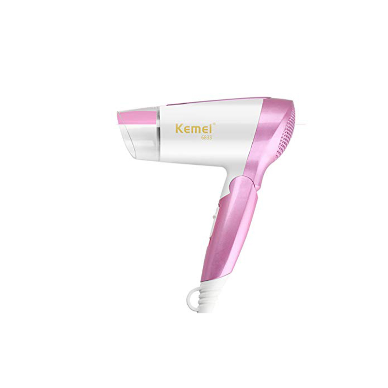 Kemei KM-6833 Professional Electric Hair Dryer Mini Folding Compact Travel Blow Dryer