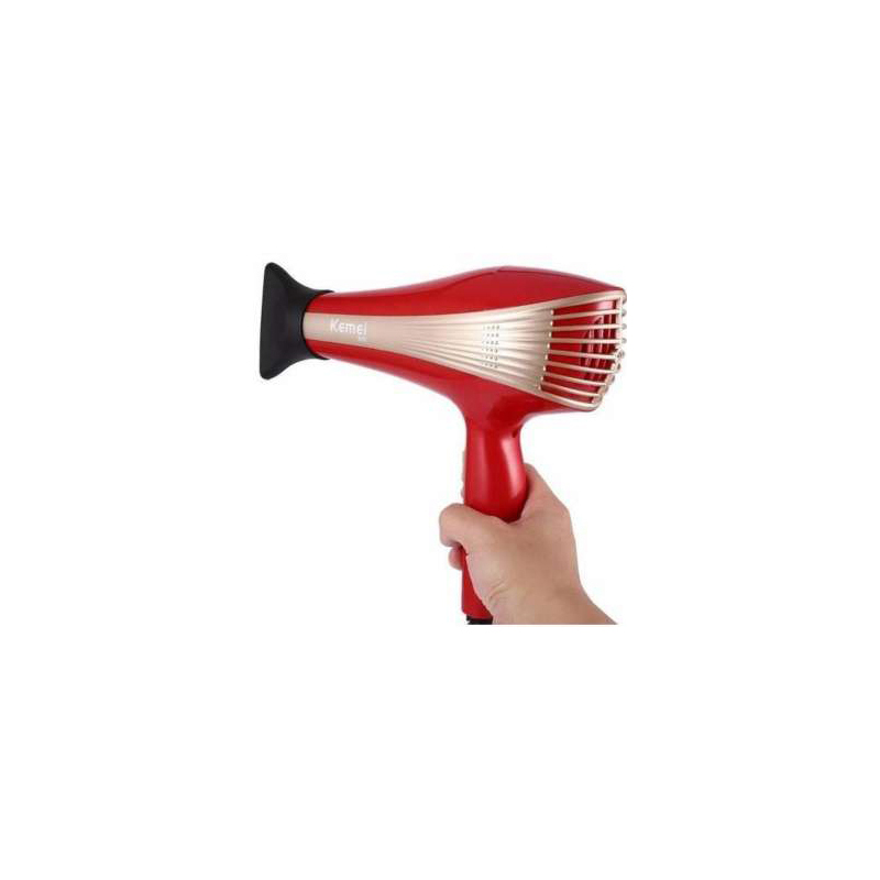 Kemei KM-899 Professional Hair Dryers 3000W – Red and Gold