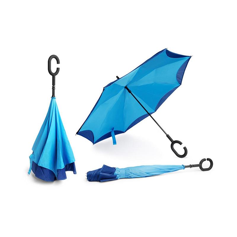 Mexon C handle Umbrella Double Layer Reverse