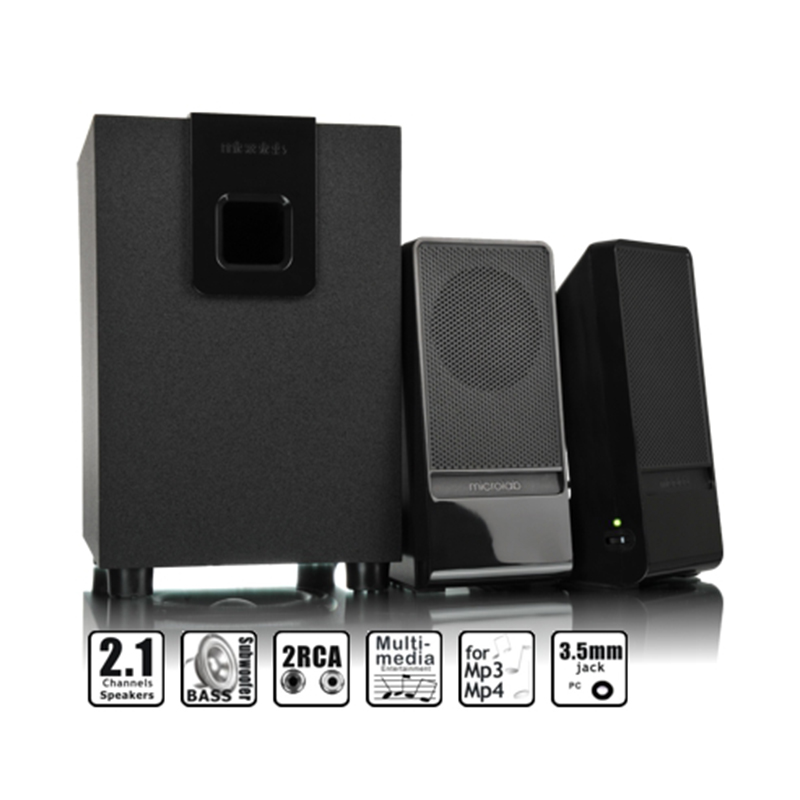 Microlab M-100 -2.1 multimedia speakers subwoofer