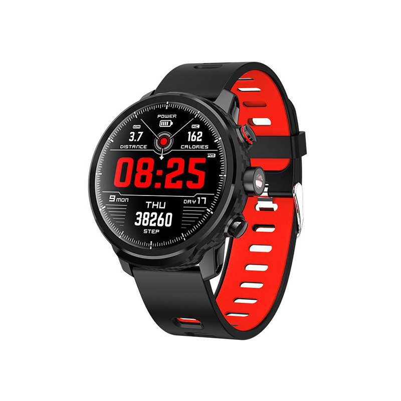 Microwear Waterproof L5 Sports Smart Watch Heart Rate Monitor Fitness Tracker - RedPedometer Heart Rate Monitor Sleep Tracker for Men Women