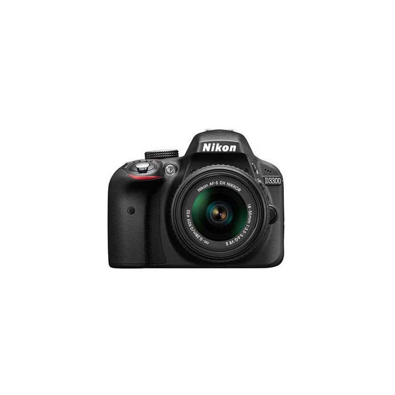 Nikon D3300 DSLR, Nikon F mount, 24.2MP, ISO 100 to 12800, (ISO 25600 equivalent)