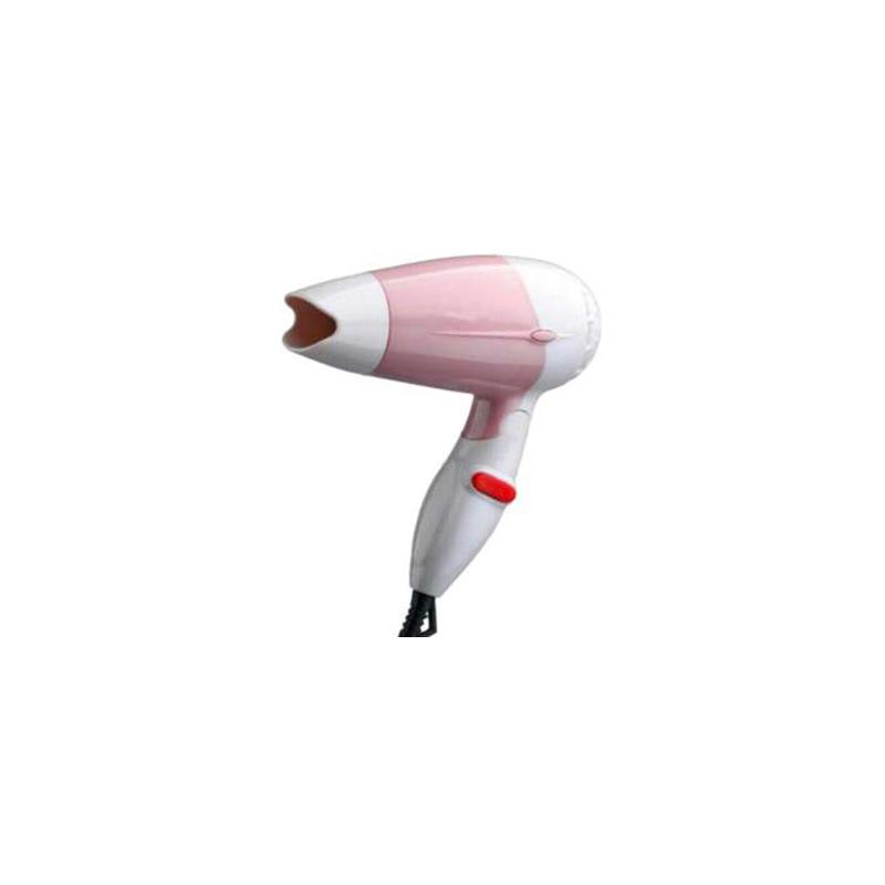 Nova NV-258 White and Pink Foldable Mini Travel Hair Dryer