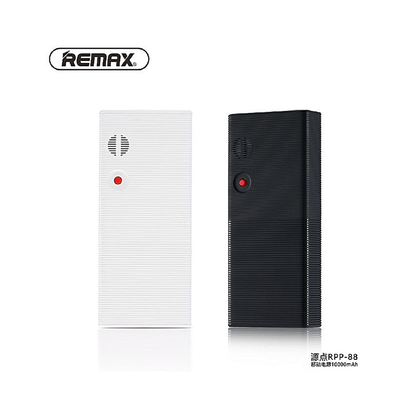 Remax RPP-88 2.4A 10000 mah Single USB Dot Power Bank. Portable Charger Battery External Universal Quickly Charging