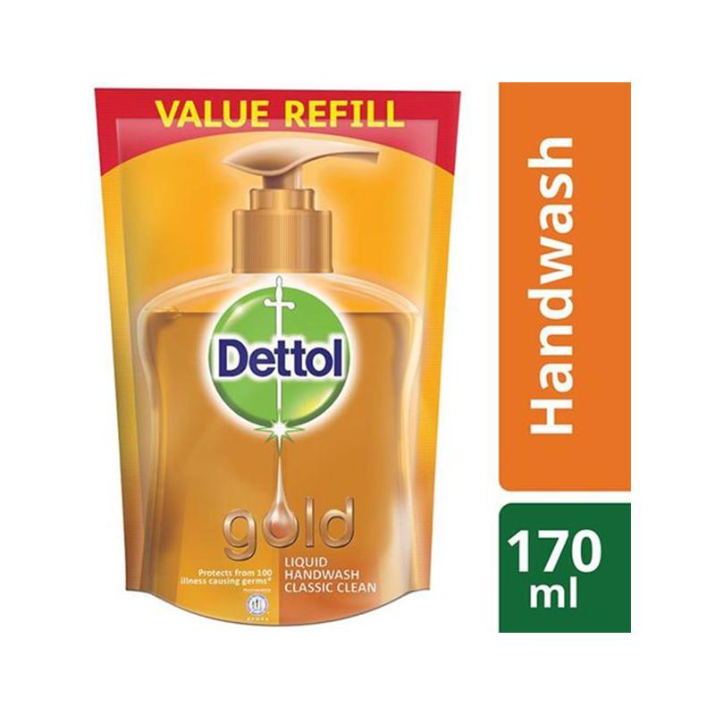 Dettol Handwash Gold 170ml Liquid Refill