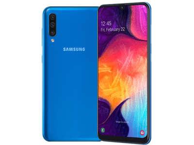Samsung Galaxy A50 (Blue, 6GB RAM, 64GB Storage, Infinity-U Super AMOLED Display)